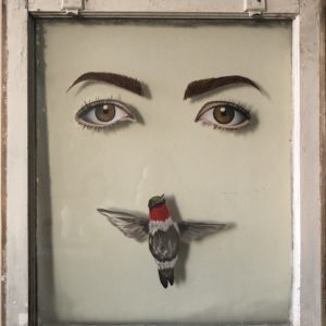 SELF PORTRAIT WITH A HUMMINGBIRD III