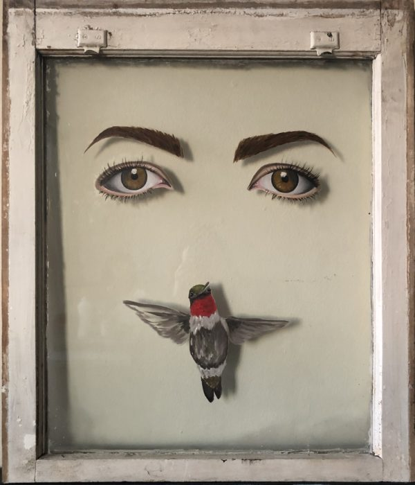 SELF PORTRAIT WITH A HUMMINGBIRD III